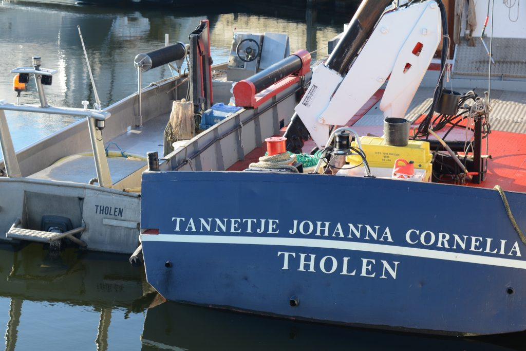 Haven haventje Tholen stad boot schip zeilboot winter zeewind